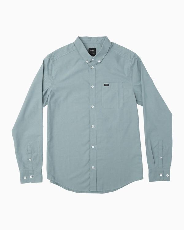 0 Boy's That'll Do Oxford Long Sleeve Shirt Blue B3506TDL RVCA