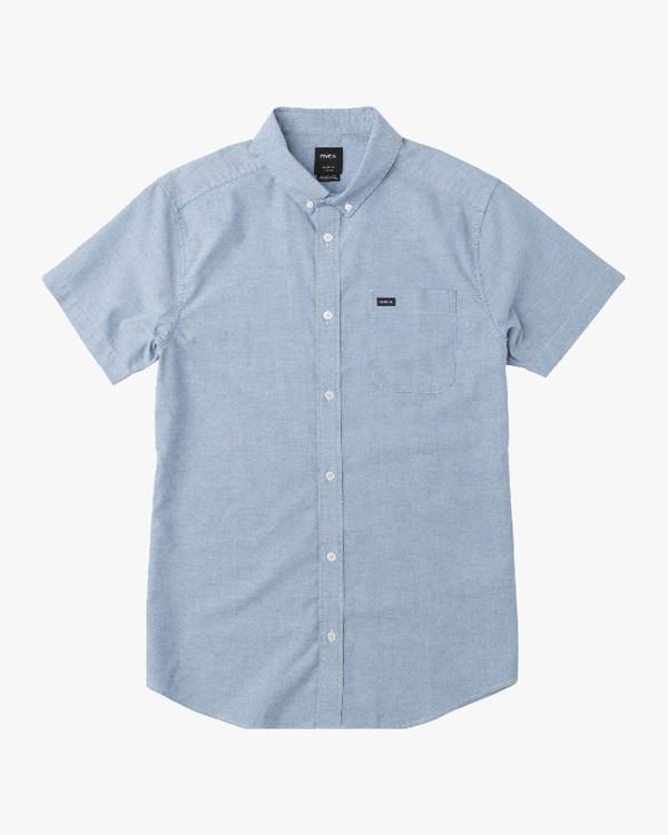 0 Boy's That'll Do Stretch Short Sleeve Shirt Blue B510QRTS RVCA