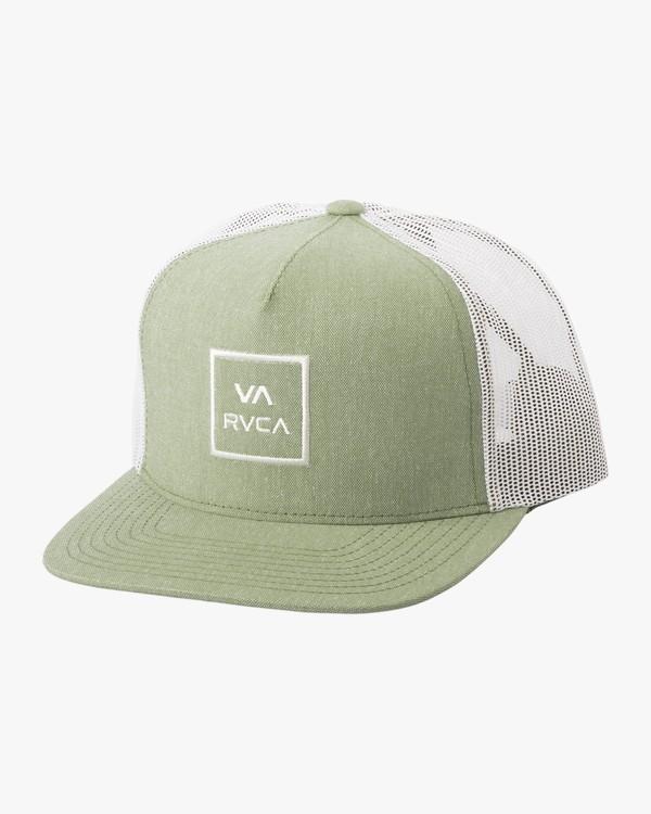 0 Boy's VA All The Way Trucker Hat Green BAAHWVAA RVCA