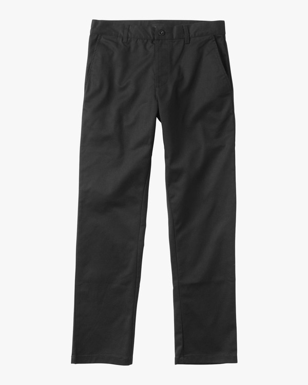 0 Boy's Weekday Stretch Pants Black BC301WDS RVCA