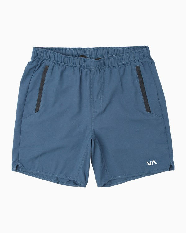 """0 Boy's Yogger 3 15"""" Short Blue BL204YGR RVCA"""
