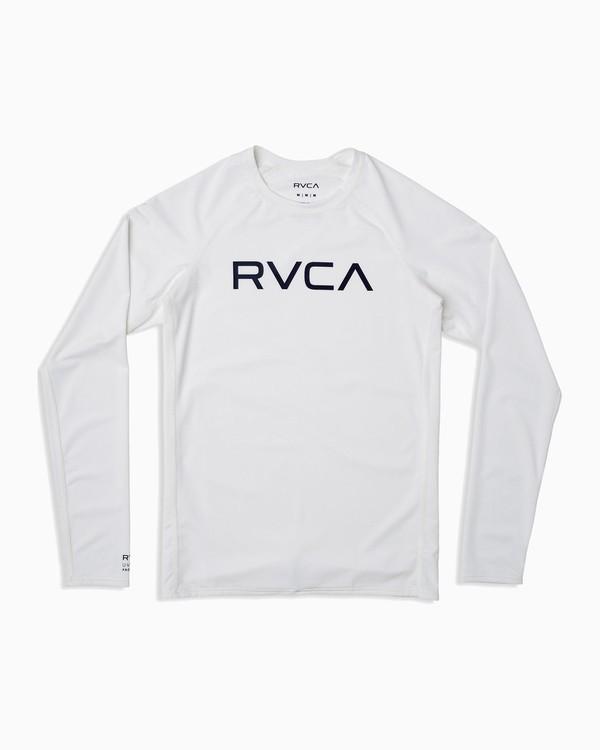 0 Boy's RVCA Long Sleeve Rashguard White BR11TRLR RVCA