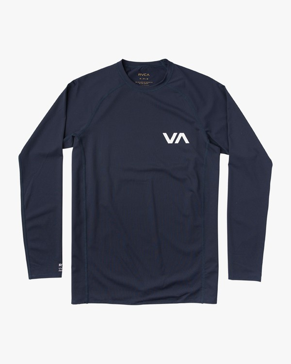0 Boy's Long Sleeve Rashguard Blue BR51NRLS RVCA