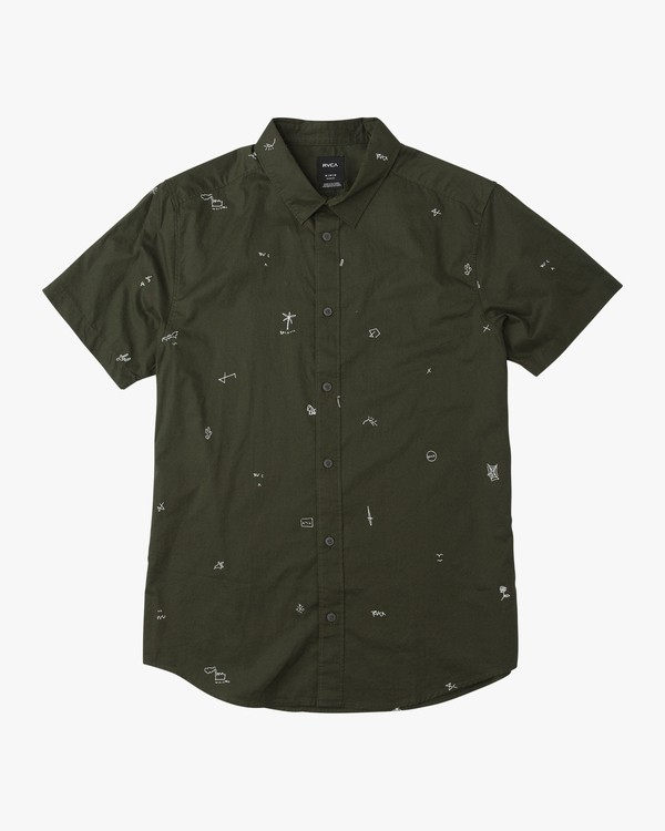 0 Scattered Printed Button-Up Shirt  M503QRSC RVCA