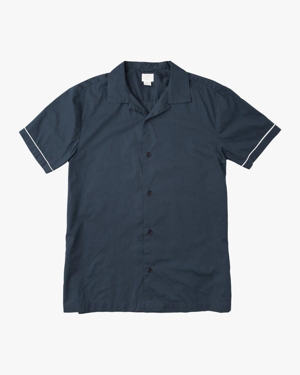 0 Neutral Donny Short Sleeve Shirt Blue M521NRDS RVCA
