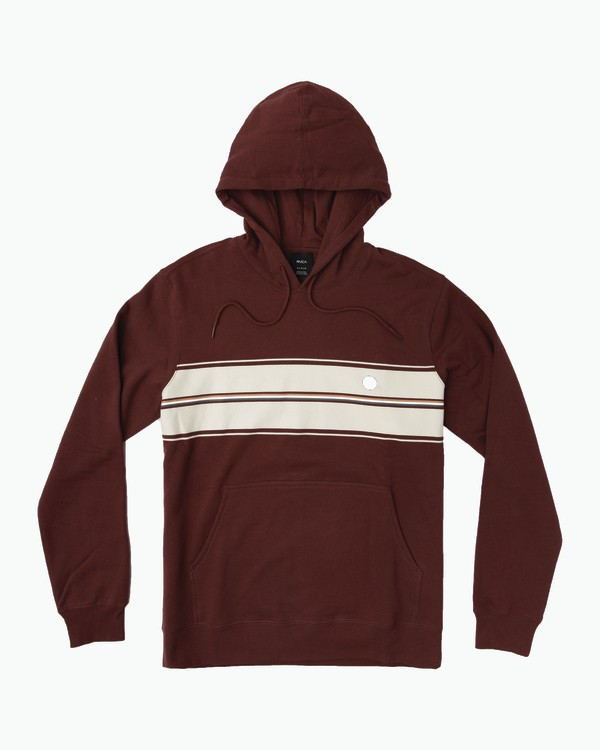 0 Vacant Striped Hoodie Red M602SRVC RVCA