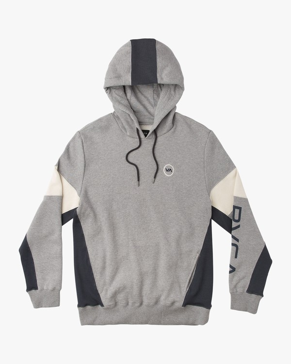 0 Perry Color Blocked Hoodie Grey M603QRPY RVCA
