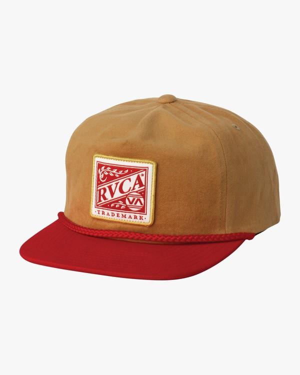 0 Dawn Snapback Hat Brown MAHWSRDS RVCA