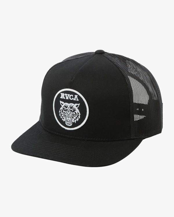 0 Dmote Tiger Patch Trucker Hat Black MAHWTRTP RVCA