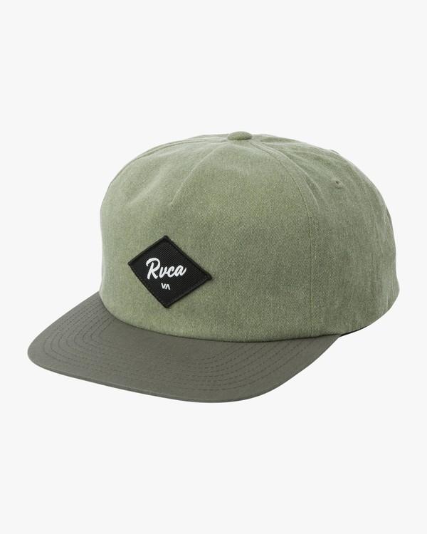 0 Wilshire Snapback Hat Brown MAHWTRWI RVCA