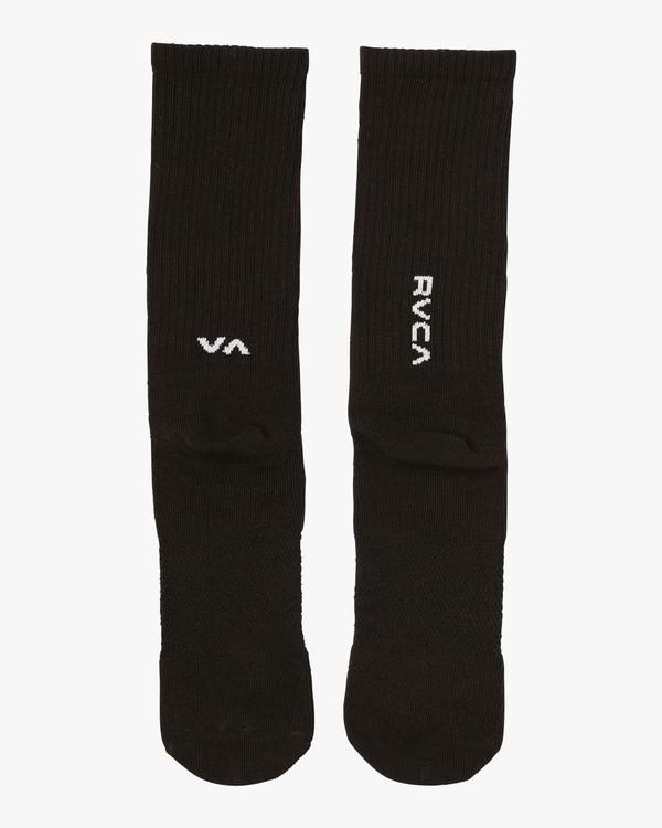 0 RVCA Sport Hi Crew Socks Black MASOQRSH RVCA