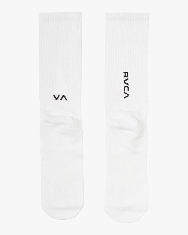 0 RVCA Sport Hi Crew Socks White MASOQRSH RVCA