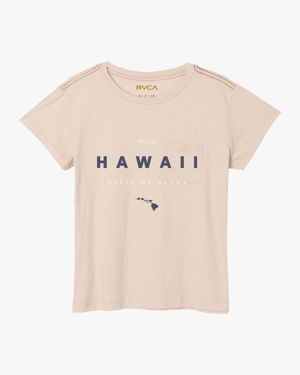 0 Da Aina T-Shirt Pink W412SRDS RVCA