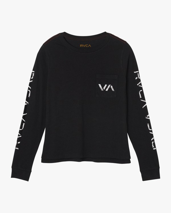 0 VA Spray Long Sleeve T-Shirt Black W456SRVA RVCA