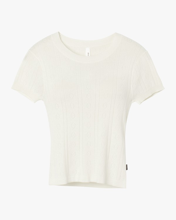0 Kapped Sweater Knit Top White W905SRKA RVCA