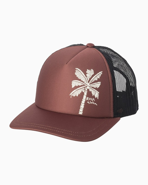 0 Oblow Palm Trucker Hat Brown WAHWQROP RVCA