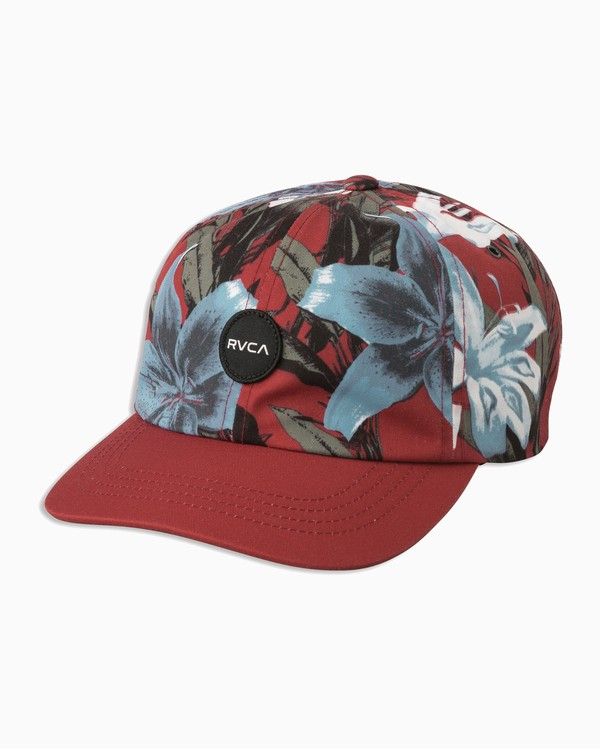 0 Exy Dad Hat Red WAHWTRED RVCA